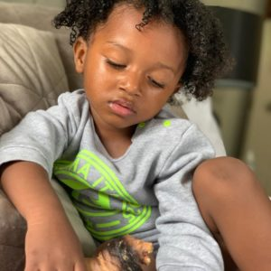 Wizkid's 3rd baby mama shares adorable new photos of their son, Zion