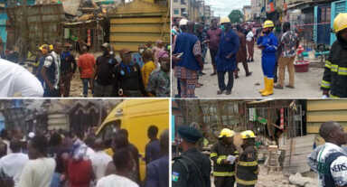 Many Feared Dead, others Trapped As Building Collapses In Ebute Metta