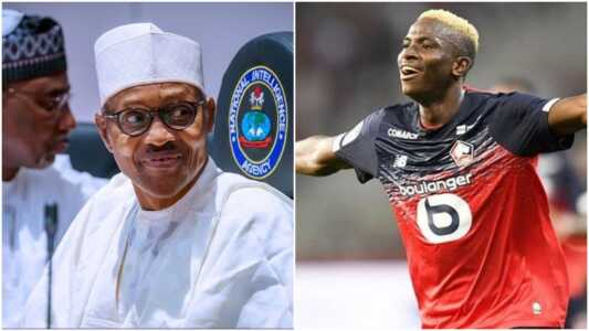 Transfer: Buhari's Position on Osimhen's Move to Napoli Revealed