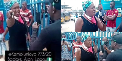 Drama As Kemi Olunloyo Clashes With SARS Officials In Lagos ( VIDEO )