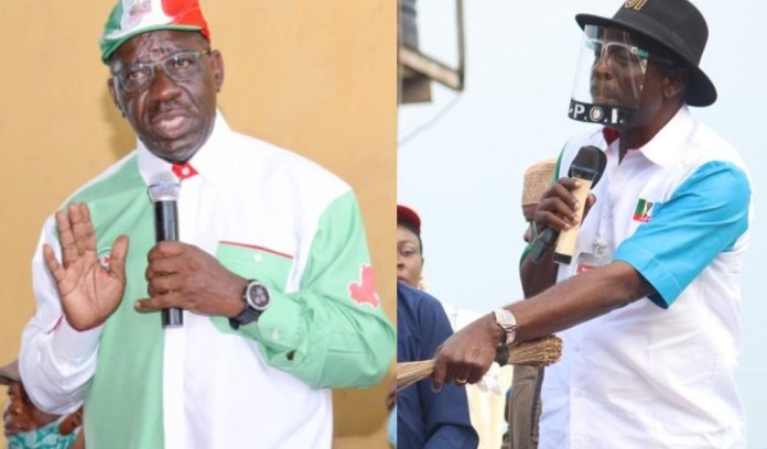 Stop Spreading lies, Ize-Iyamu Blasts Obaseki over N10m fundraising for Oshiomhole, Reveals why they swapped political parties