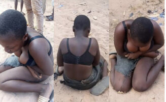 13 years Old Housemaid Stripped nakedAs She Struggles To Cover Up Private Parts