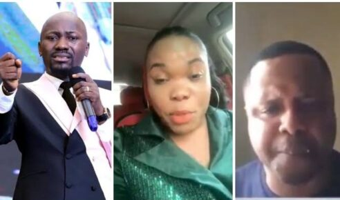 Watch Video: Apostle Johnson Slept With My Wife Husband Shed Tears, Wife Cried Why Narrating What Happened