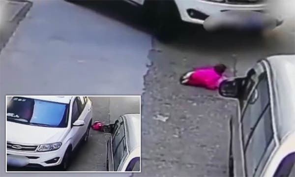 2-year-old Child Run Over Twice by Car Survives