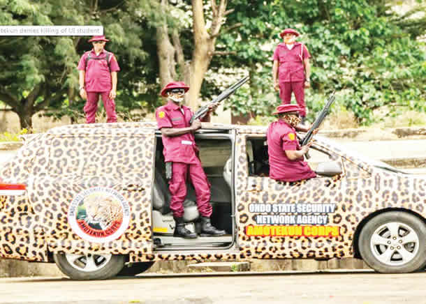 Alleged Military Training For Fulanis : Amotekun arrests 45 Northern youths in Ondo