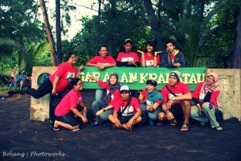 Gambar diambil sebelum nanjak Krakatau (doc Pandu Bocah Petualang)