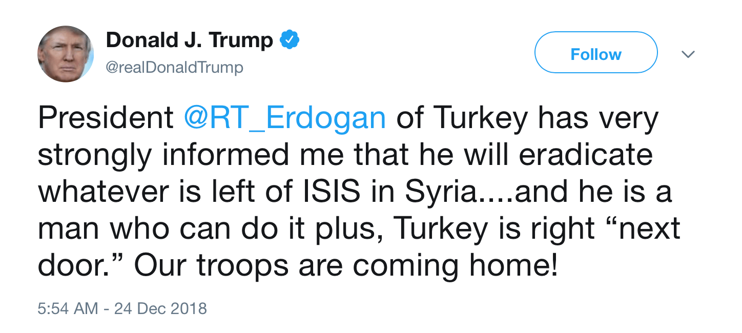 Turkey can eradicate ISIS in Manbij, Tel Abiad, Ain Arab, Raqqah and all the way to Qamishli simply because ISIS is not present in the entire area but along the Euphrates opposite the Syrian Army forces where the US pushed it.