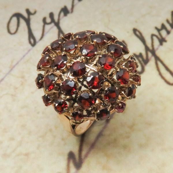Vintage garnet dome ring
