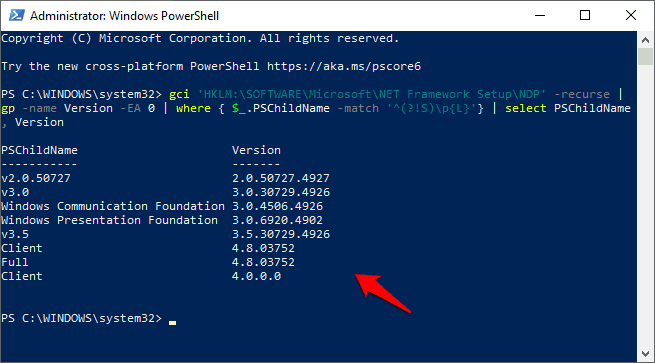 how-to-check-.net-framework-version-in-windows-10