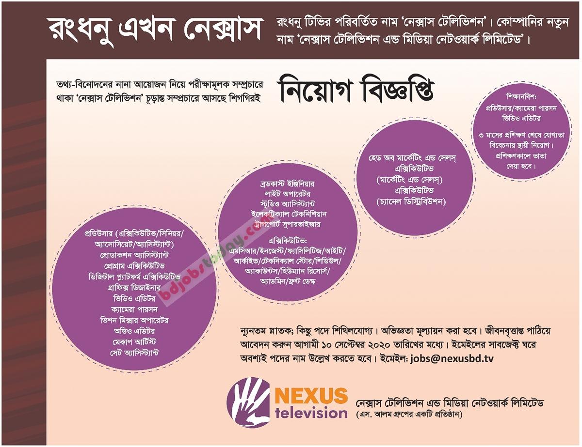 NEXUS Television and Media Network Limited job circular