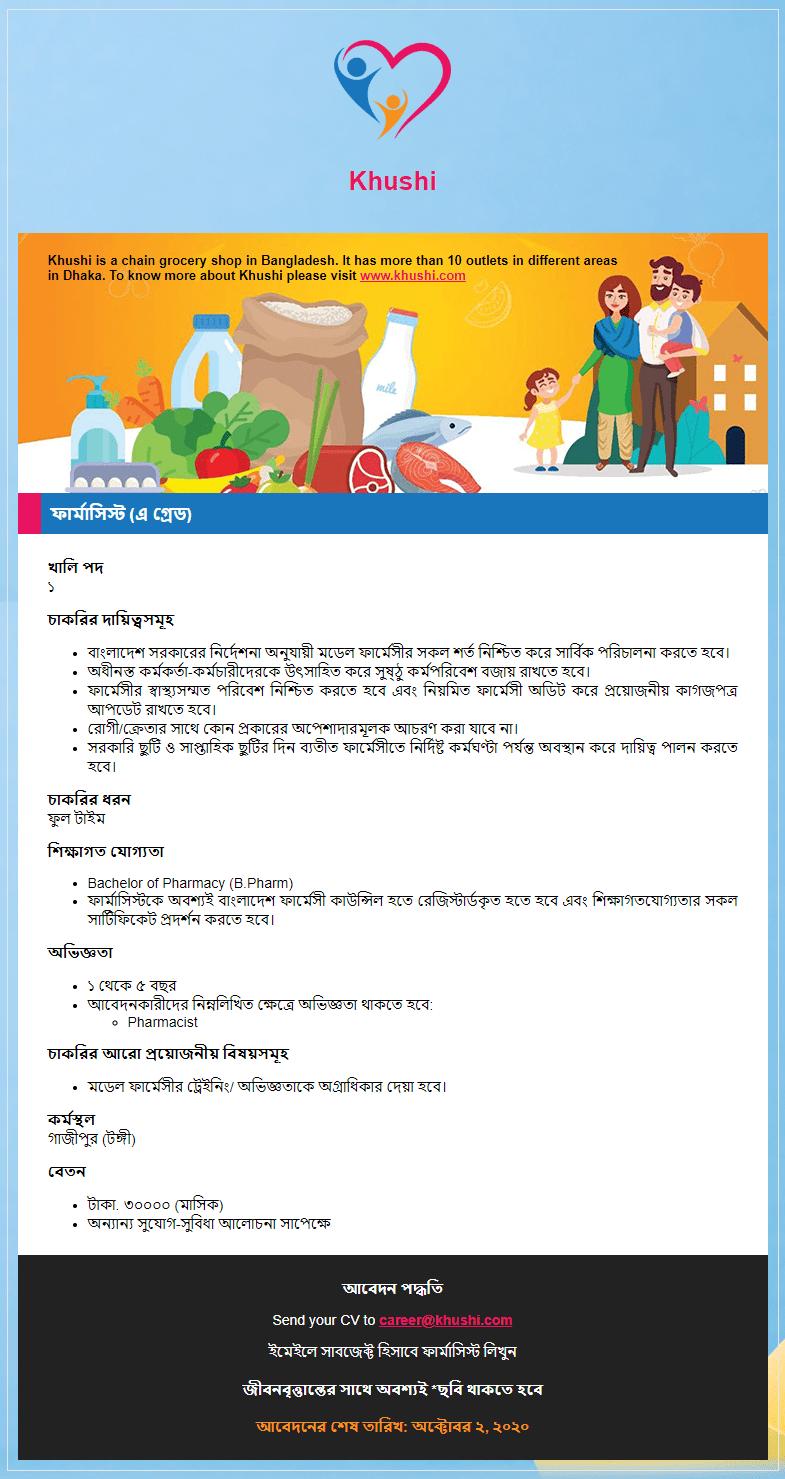 Khushi job circular