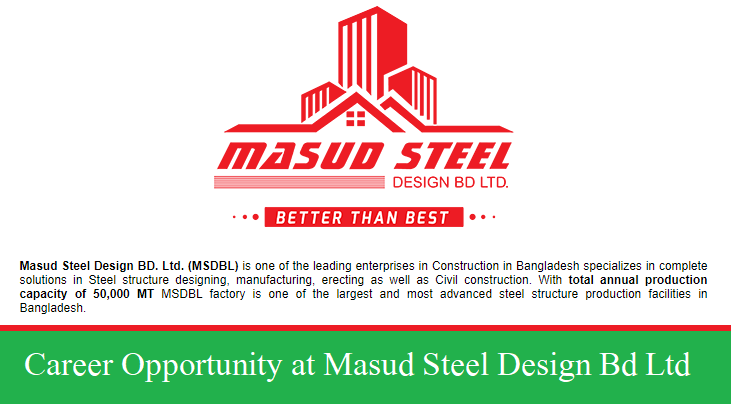Masud Steel Design Bd Ltd Job Circular