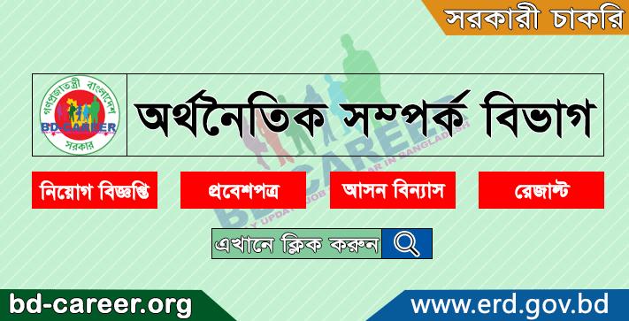 Economic Relations Division ERD Job Circular Apply 2021 - www.erd.gov.bd