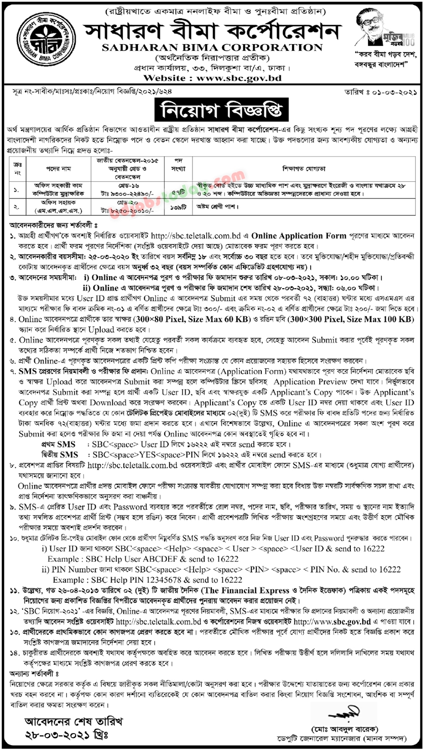 SBC Teletalk 2021 - sbc.teletalk.com.bd
