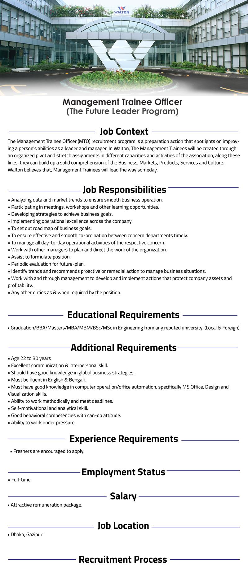 Download Walton Hi-Tech Industries Ltd Job Circular 2021