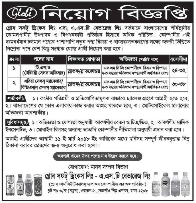 Globe Soft Drinks Job Circular