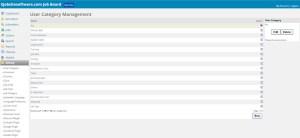 job board software Admin Control Panel