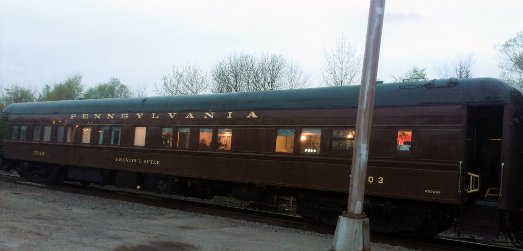 old vintage rail car