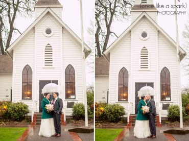 rainy day wedding umbrella