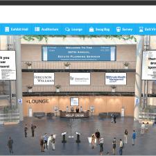 ID: Screenshot of virtual event landing page - computerized lobby