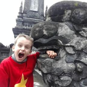 Vicious dragon attack caught on film