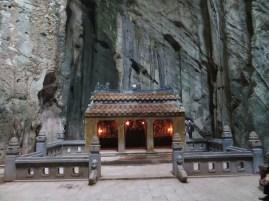 A shrine inside a huge cave