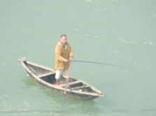 A fisherman off Lang Co beach