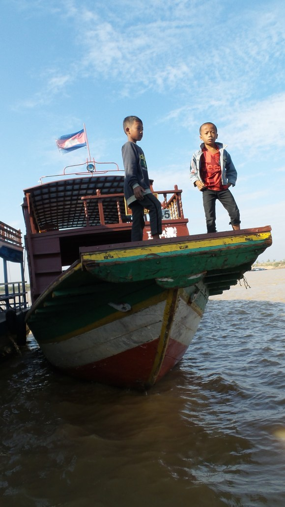 Starting a day's work on the docks of Siem Reap