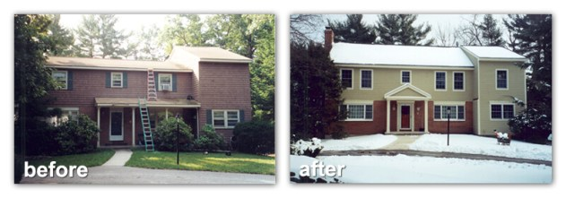 addition remodel before after