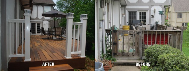 deck remodel before and after