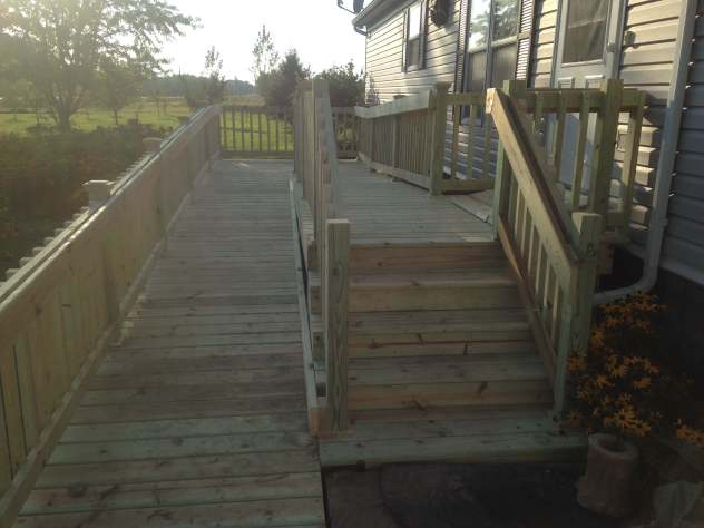 deck ramp and stairs