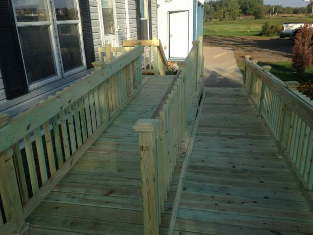 deck gradual slope for wheelchair