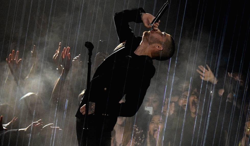 Zayn Malik en un concierto en California.