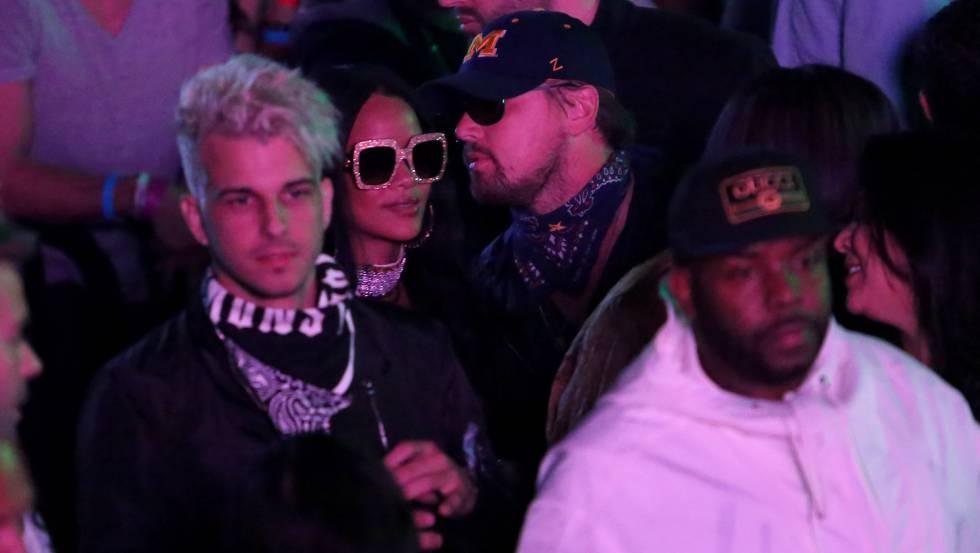 Rihanna y Leonardo DiCaprio, en el festival de Coachella.