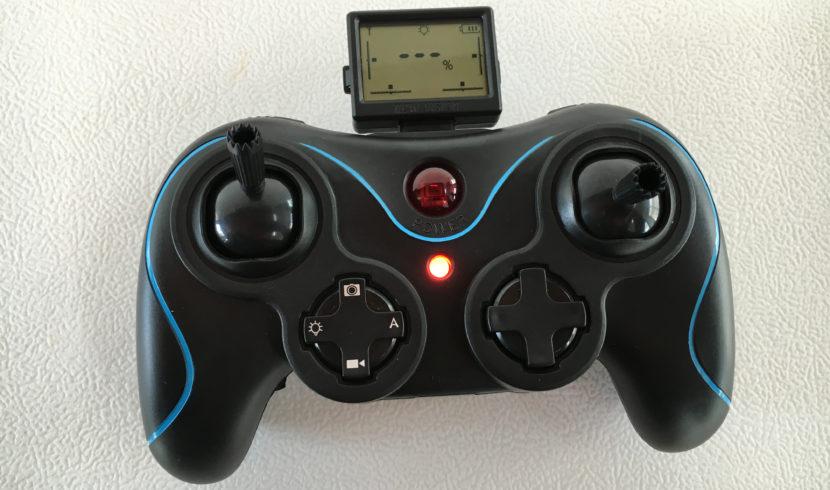 Mando del nanodrone con botones de foto y vídeo