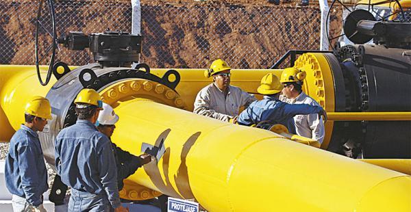 El país envía un promedio diario de 17 MMm3 de gas a Argentina