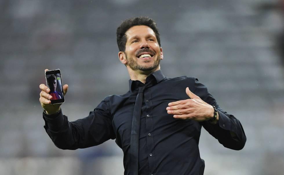 Simeone, tras el partido.