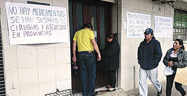 Los trabajadores del Sinec no descartan la huelga de hambre