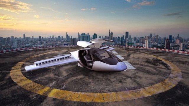 El avión eléctrico de la empresa Lilium Aviation Foto: Lilium
