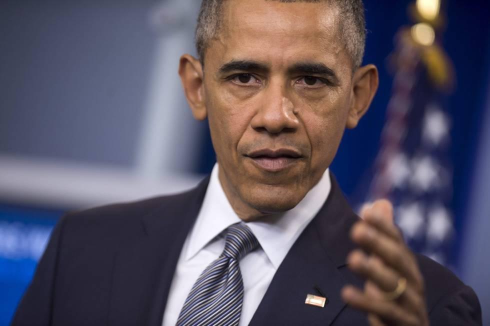 El presidente estadounidense, Barack Obama, en una rueda de prensa