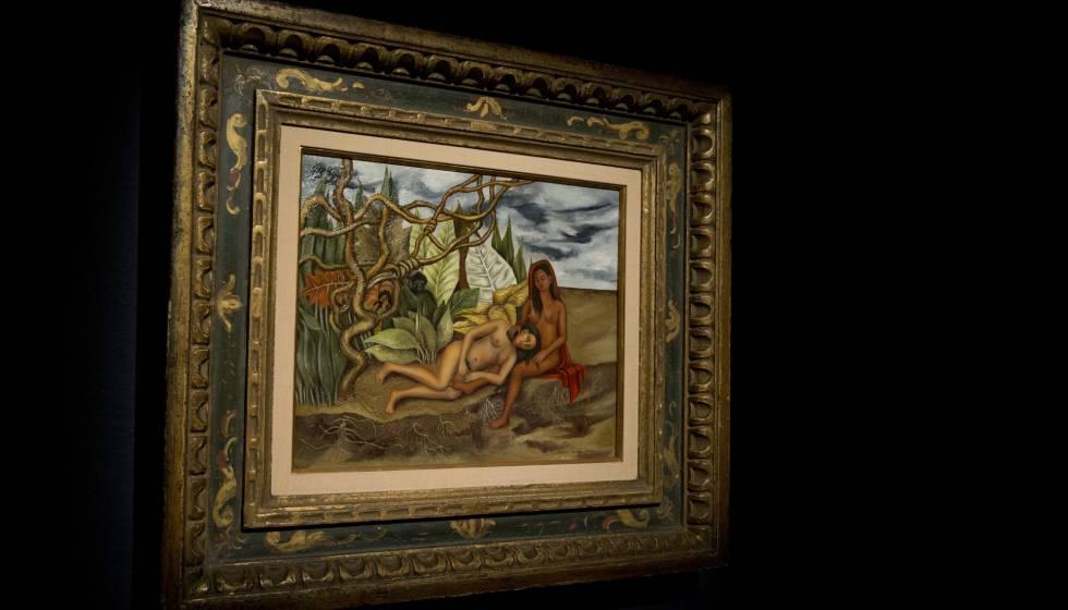 El cuadro de Kahlo, 'Dos desnudos en el bosque', en Christie's.
