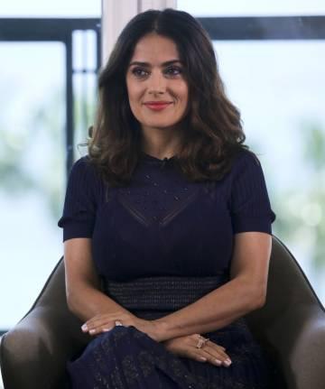 La actriz Salma Hayek, en Cannes.