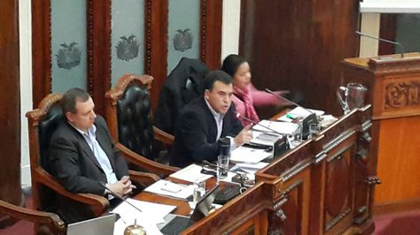 El ministro de la Presidencia, Juan Ramón Quintana, en la Asamblea