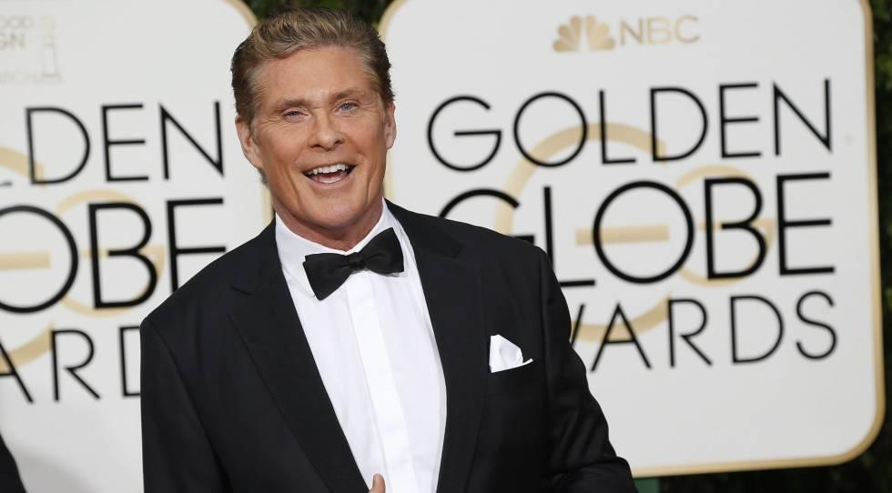David Hasselhoff en los Globos de Oro, el pasado enero.