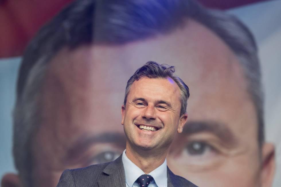 El candidato ultraderechista a la presidencia, Norbert Hofer, este viernes.