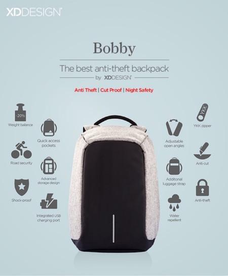 1 Bobby Antitheft Backpack Travel Xddesign
