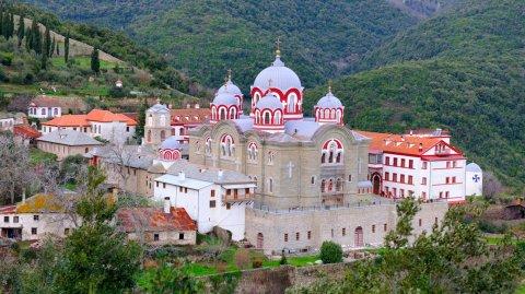 Uno de los 20 monasterios erigidos en Monte Athos.