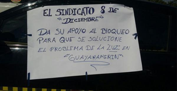 En Guayaramerín cumplen el segundo día con bloqueos