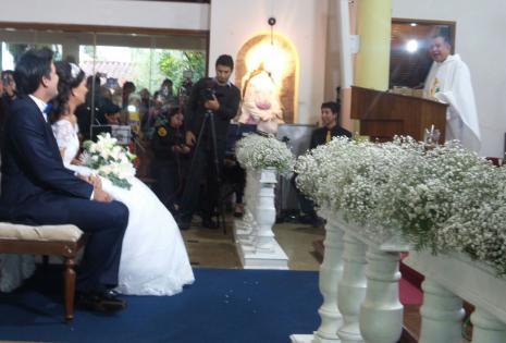 Se casaron en la iglesia La Macarena
