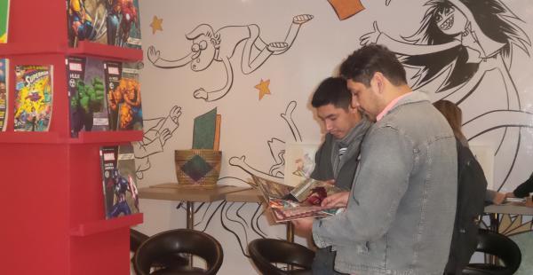 El Centro Simón I. Patiño también puso a disposición del público cómic y literatura infantil